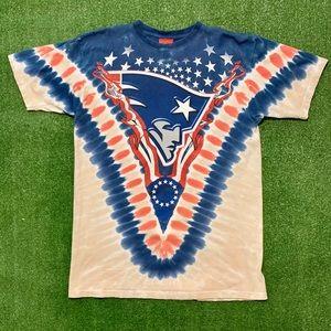 New England Patriots NFL Apparel Tie Dye Shirt.